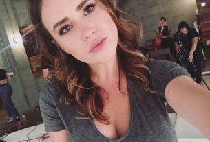 Nicolle Radzivil hot selfie on set fi